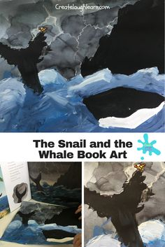 Have you read The Snail and the Whale by Julia Donaldson? This book is an adorable tale about a whale that takes a snail around the world on his tail. Snail And The Whale, Reading School, Whale Art, Art For Kids, Book Art, This Book, Arts And Crafts, Around The Worlds, Learning