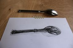 Have you ever wondered how to draw shiny metal? This tutorial will show you step-by-step instructions on how to draw a spoon, so you can learn how to capture the reflective surface of gleaming metal objects!: