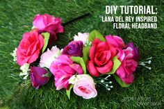DIY Tutorial: Lana Del Rey Inspired Floral Headband - good way to incorporate some creativity and save money.