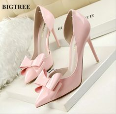 7d5bb11917d8 BIGTREE Women Pumps 2017 Spring Hollow Bow New Fashion Women Shoes Pointed High  Heels Shoes Shoes