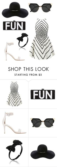 """fun"" by barnabotlucas ❤ liked on Polyvore featuring beauty, Halston Heritage, Gianvito Rossi, Fendi and Eugenia Kim"