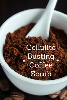Cellulite Busting Coffee Scrub // agirlworthsaving.net // #cellulite #homemade #natural #DIY #beauty #coffee