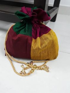 Indian silk return gift potli bag-jewellery bag-party give aways -wedding  bags-potli bags-brides maid bag-gift for her-silk bag- hostess bag b7be0508ac2a7