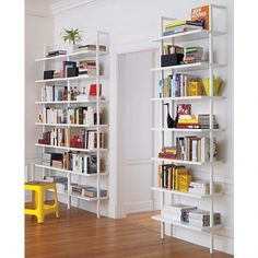Sleek, modern bookcases for small home offices. Make room for storage where there is none - beautifully.