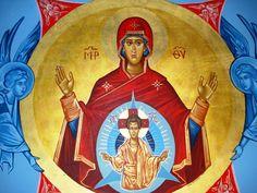Platytera by Orthodox Master Iconographer Elias Damianakis. (www.orthodoxiconography.com).
