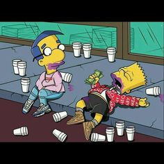 'The Simpsons' Characters Illustrated in Supreme The Simpsons, Simpsons Supreme, Purple Drank, Simpsons Characters, Supreme Wallpaper, By Any Means Necessary, Dope Art, Trippy, Illustration