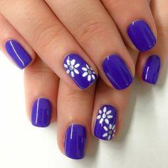 Blue Nail Art Ideas for 2018 - Top 150 Designs - Our Nail Nail Polish Art, Toe Nail Art, Acrylic Nails, Purple Nail Art, Purple Nails, Colorful Nail Designs, Cute Nail Designs, Hot Nails, Hair And Nails