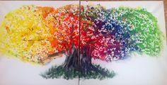 Baum des Lebens Acryl auf Leinwand je 60/60