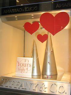 tiffany's window display for valentine's day