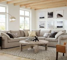 Updating your living room? Shop Pottery Barn for modern and classic living room ideas. Find living room furniture and decor and create the ultimate space. Leather Living Room Furniture, Living Room Furniture Layout, Living Room Sectional, Home Living Room, Living Room Designs, Living Room Decor, Sectional Sofas, Couches, Sleeper Sofas