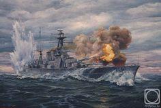 The Battle of the Denmark Straight ( HMS Hood ) by Golybev Dmitry