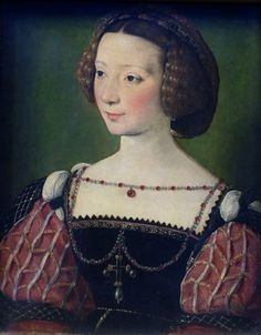 Beatrix Pacheco, Countess of Montbel and Entremonts by Jean Clouet (Städel Museum - Frankfurt am Mein, Hesse Germany). About 1539.