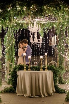 A new idea to create an amazing setup for your bridal table! A round truss construction full of fairylights, flowers and a chandelier! Floral Wedding Decorations, Table Decorations, Destination Wedding, Wedding Venues, Fairy Lights Wedding, Outdoor Wedding Inspiration, Bridal Table, Elegant Wedding, Chandelier