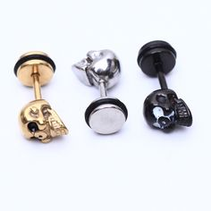 Now in our store skull clothing and accessories 2pcs Fashion Earr... Check out new items http://rebelstreetclothing.com/products/2pcs-fashion-earrings-stainless-steel-skull-earrings-for-men-women-piercings-skeleton-studs-earring-body-jewelry-free-shipping