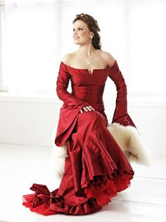 Red dress...curly hair... and Tarja Turunen