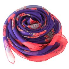 The Paris - Purple & Red Pocket Watches Scarf. www.terracottanewyork.com