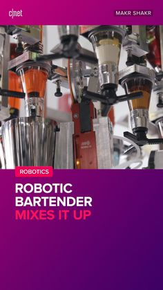 CNET news reporters and editors cover the latest in Sci-Tech, with in-depth stories on issues and events. Bartender Mix, Iron Man Cartoon, Robotics, Tech Gadgets, Espresso Machine, Masters, Coffee Maker, Content, Drinks