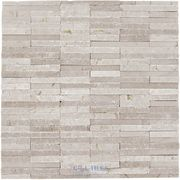 pretty fireplace tiles  {Stone Tiles by Diamond Tech Glass Tiles - Contours - Ionic Polished & Chiseled Linear Mosaic in Crema Marfil - ( DT-87354 ), $19.79}