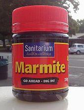 Marmite - Wikipedia, the free encyclopedia Marmite Recipes, Cooling Tower, Thanksgiving Table, Fall Crafts, New Zealand, Tea Lights, Mason Jars, Kiwiana