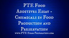 Ecology Essay Pte Food Additives Essay  Chemicals In Food Production And Preservation Poetry Analysis Essay also Peace Corps Essays  Best Pte Essay Topics Images Legalization Of Drugs Essay
