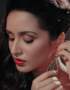 Want similar red color lipstick that Shraddha Kapoor is wearing - 22183 - SeenIt Indian Celebrities, Bollywood Celebrities, Bollywood Fashion, Bollywood Girls, Bollywood Stars, Bollywood Heroine, Indian Bollywood, Hijab Fashion, Beautiful Bollywood Actress
