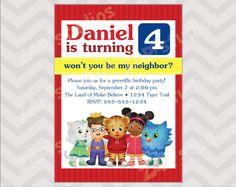 Daniel Tiger Birthday Party Invitation Digital File by ZAPStudios, $10.00