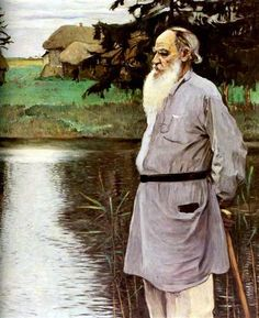 Mikhael Nesterov (Russian, 1862-1942) : Portrait of Leo Tolstoy, 1907. Tolstoi Museum, Moscow, Russi.
