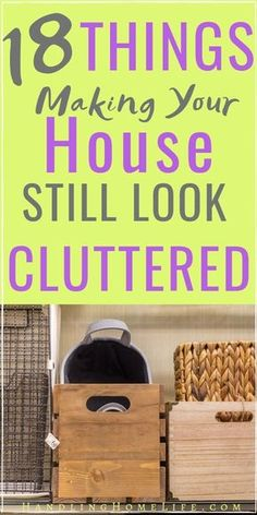 18 Things Making Your House STILL Look Cluttered: Decluttering Tips Have a clutter free home when you remove these 18 things making your house still look cluttered. House Cleaning Tips, Deep Cleaning, Cleaning Hacks, Diy Hacks, Spring Cleaning, Tips And Tricks, Declutter Your Home, Organizing Your Home, Organising