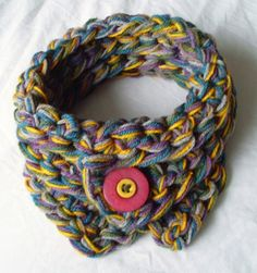 ˜multicoloured mini scarf