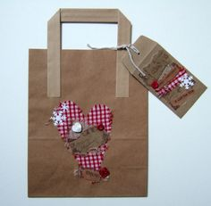 Christmas Gift Bag with Gift Envelope,Name Tag,Can Be Personalised £2.00
