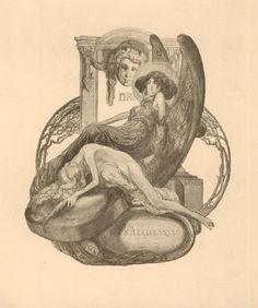 Exlibris Erotic EX Libris ART Deco Bayros Franc VON 1866 –1924 Austria | eBay