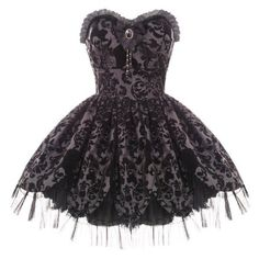 HELL BUNNY PETAL BLACK GOTH VICTORIAN MINI PROM... ($60) ❤ liked on Polyvore featuring dresses, vestidos, short dresses, cocktail prom dress, black dress, mini dress, gothic victorian dress and short prom dresses