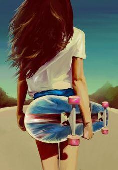 Skater Girl Drawing