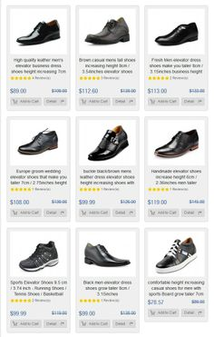 Elevator Shoes Men Height Increasing Shoe Gain Taller for Short People fe9750112360