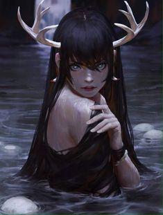 New digital art girl fantasy lakes ideas Fantasy Inspiration, Character Inspiration, Character Art, Fantasy Character Design, Character Illustration, Illustration Art, Art Et Design, Digital Art Girl, Fantasy Kunst