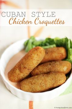 Cuban Style Chicken Croquettes