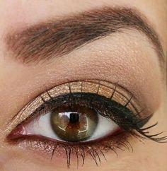 maquillage aux nuances dorées pour les yeux noisettes