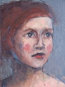 Image of Small painted portrait - Iris  Gillian Lee Smith