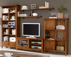 Muebles Home, Muebles Living, Tv Stand And Entertainment Center, Media Cabinet, Forest House, Tv Cabinets, Glass House, Home Interior Design, Bookshelves