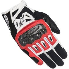 Alpinestars SMX-2 Air Carbon V2 Gloves Black / Red / White. Made of full grain leather and 3D technical mesh, they incorporate the innovative Alpinestars carbon knuckle protector. The SMX-2 Air Carbon...