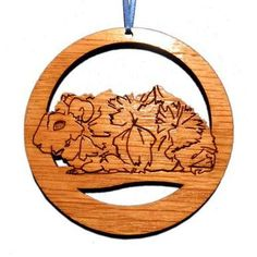 4 inch Abyssinian Guinea Pig Ornament