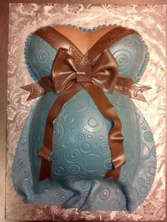 Pregnant Belly  Cute idea for baby shower!
