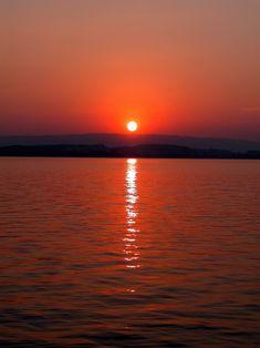 Sundown at the lake of Zug, Switzerland