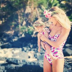 Two Cute Boutique | www.twocuteinc.com | Tori Praver Mommy and Me Bikini Swimwear