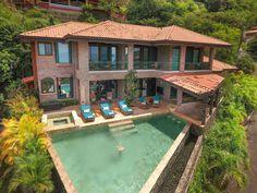 Playa Hermosa House rental: 3 Bedroom Luxury Ocean View Home with Infinity Pool & Bar!