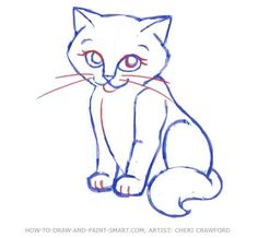 how to draw cats step by step - Google Search