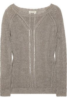 Inhabit  Open-knit linen-blend sweater  This will keep us cozy #CozyInTheWinter