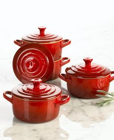 Le Creuset Casseroles, Stoneware Petite Set of 4 - Cookware - Kitchen - Macy's
