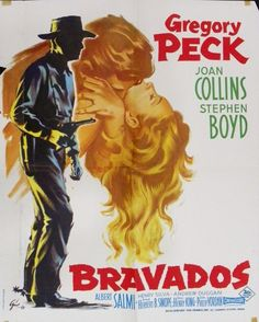 1958 Movie Posters | 417: Boris Grinsson Movie Poster, The Bravados, 1958 : Lot 417