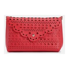 Justfab Clutches Ellis (€28) ❤ liked on Polyvore featuring bags, handbags, red, red cross body purse, justfab, red purse, pocket purse and red crossbody purse